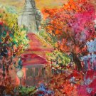 Church -art print landscape by Denitsa Kaneva