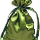 Moss Green Satin Pouches (12 pcs)