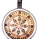 Wheel of Law Talisman for Health, Wealth, & Happiness