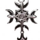Gothic Moon Cross Power Pendant