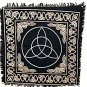Silver Triquetra Altar Cloth