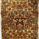 Brown Pentagram Tapestry