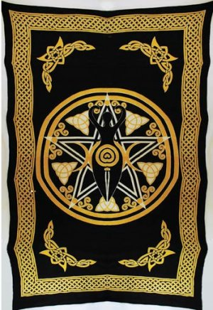 Pentagram Goddess Tapestry