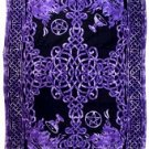 Purple and Black Celtic Cross Tapestry