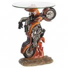 Motorcycle Glass Top Altar Table
