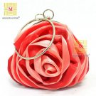 Hot Sale Satin Hasp Rose Evening Bag 8643#