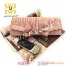Pink Satin Ladies Bow Purse Evening Bag 9309#