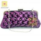 Sweet Checked Rhinestones High Quality Clutch Evening Bag 366#