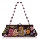 Embroidery Retro Beaded Luxious Clutch bag Evening bag 9983#