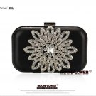 Sunflower Crystal Beaded Bling Chain Evening Bag 539#