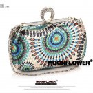 Designer Peacock Sequined Rhinestones Ladies Purse,Evening Bag 3008#