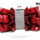 Yarn Rehinestone Bow Satin Ladies Bag,Evening Bag 983#