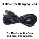 3 METRE CHARGING CABLE FOR THE MOBIUS ACTIONCAM