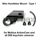 TYPE 1 HANDLEBAR MOUNT FOR THE MOBIUS ACTIONCAM AND ALL 808 KEYCHAIN CAMERAS
