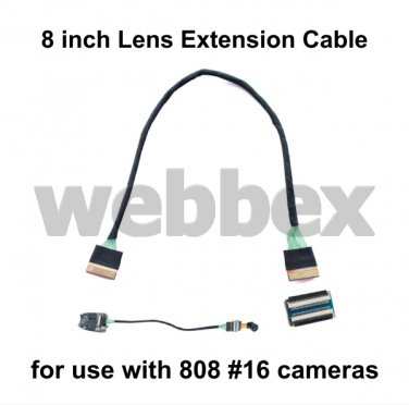 8 INCH LENS EXTENSION CABLE FOR 808 #16 CAMERAS