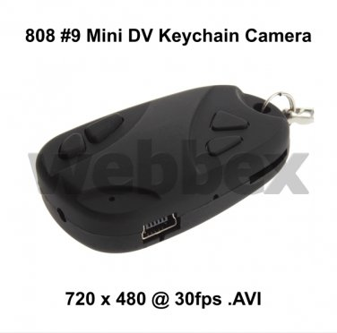 BUDGET MINI DVR 808 #9 KEY CHAIN MICRO CAMERA