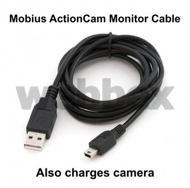 1.8 METRE MONITOR CABLE FOR THE MOBIUS ACTIONCAM