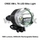 CREE XML T6 LED 1800 LUMEN RECHARGEABLE BIKE LIGHT