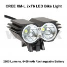 CREE XML 2xT6 LED 2800 LUMEN RECHARGEABLE BIKE LIGHT