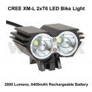 CREE XML 2xT6 LED 2800 LUMEN RECHARGEABLE BIKE LIGHT