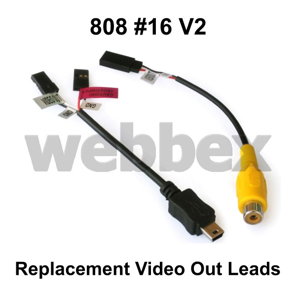 REPLACEMENT VIDEO OUT LEADS FOR 808 #16 V2 CAMERA