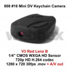 MINI DVR 808 #16 V3 LENS B KEY CHAIN MICRO HD CAMERA 720P H.264 WITH A/V OUT