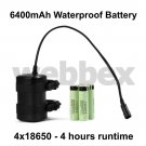 6400mAh 4 HOUR 4x18650 WATERPROOF BATTERY PACK