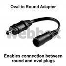 OVAL TO ROUND ADAPTER LEAD