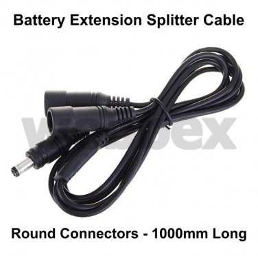 1.0 METRE BATTERY SPLITTER EXTENSION CABLE - ROUND CONNECTORS