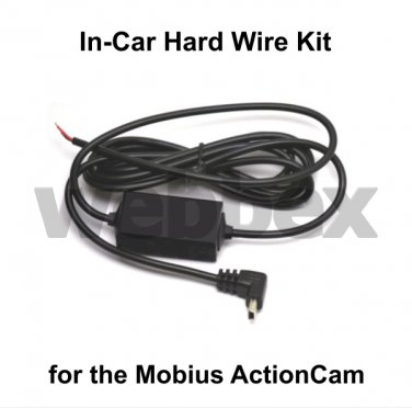 IN-CAR HARD WIRE KIT FOR THE MOBIUS ACTIONCAM