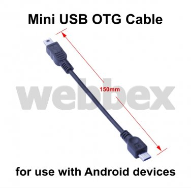 MINI USB OTG CABLE FOR ANDROID DEVICES