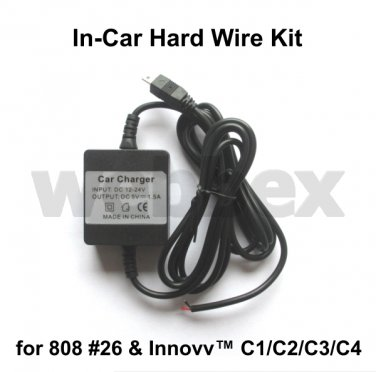 IN-CAR HARD WIRE KIT FOR THE 808 #26 & INNOVV C1/C2/C3/C4