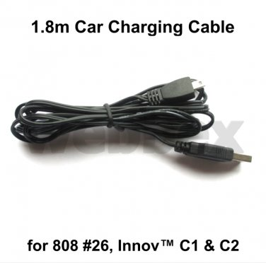 1.8 METRE CAR CHARGING CABLE FOR THE 808 #26 KEYCHAIN & INNOVV C1 & C2 CAMERAS