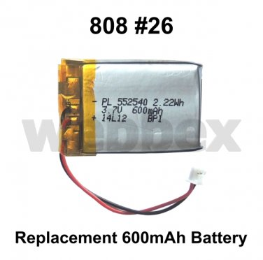 REPLACEMENT 600mAh BATTERY FOR THE 808 #26 KEYCHAIN CAMERA