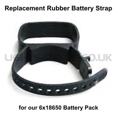 REPLACEMENT RUBBER BATTERY STRAP (6x18650 PACK)