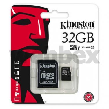 GENUINE KINGSTON MICRO SD CLASS 10 32GB SDHC MEMORY CARD