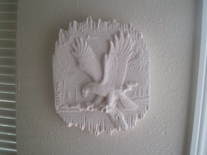 E85 Eagle Scene Plaque