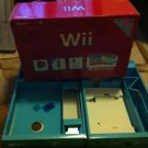 Red WII 25th Anniversary Edition Nintendo(Box Only) With blue Inserts