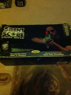 Xbox Silent Scope Laser Light Rifle in Box complete with instructions