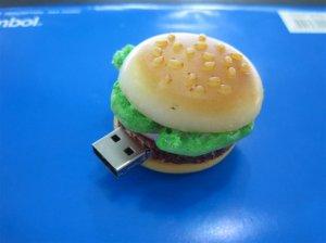 Foods style USB flash drive,  Hamburger design USB flash memory    8GB