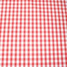 "1/4"" RED GINGHAM QUALITY COTTON FABRIC"