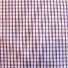 1/8 &quot; LILAC GINGHAM QUALITY COTTON FABRIC