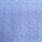 SMALL DAISY PRINT POLY COTTON  BLUE