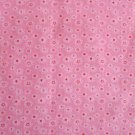 SMALL DAISY PRINT POLY COTTON  PINK