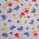 BUTTERFLY AND FLORAL PRINT POLY COTTON MULTI COLOURED