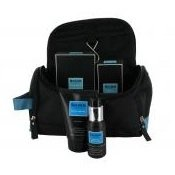 SKINN Kit Bag For Men - Toiletry Bag with Total Shave 100ml and Daily Moisture 50ml