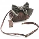 Chocolate Big Bow Handbag- Mauve