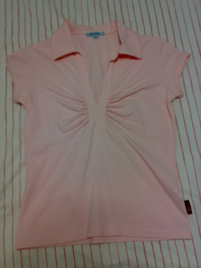 BALENO COLLARED PINK TOP
