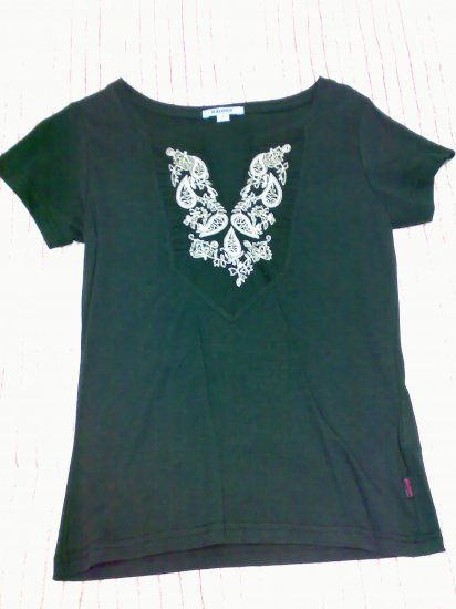 BALENO BLACK EMBROIDERED TEE