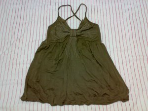 BABYDOLL CROSS-BACKED SPAG TOP
